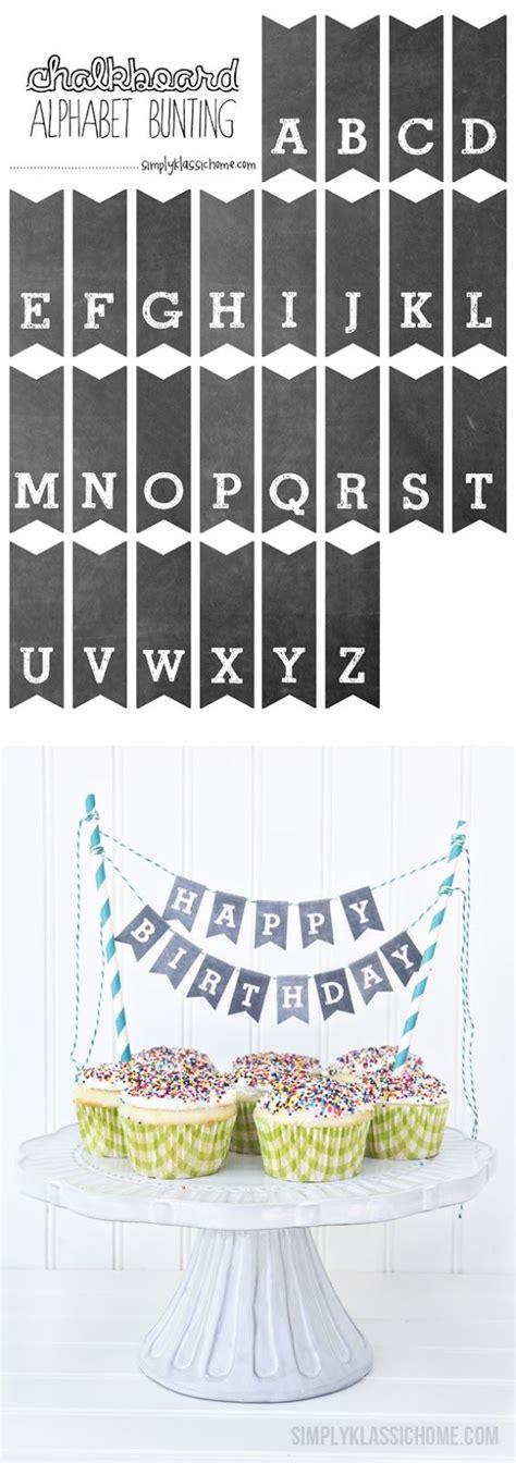 free printable mini bunting letters printable chalkboard letters cake bunting 행복한 파이 및 케익