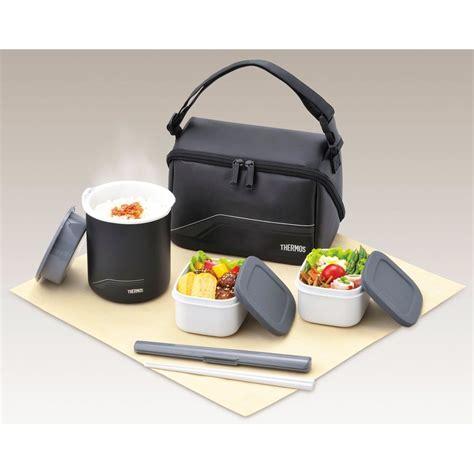 Cooler Box 12s Thermos Kotak thermos bento lunch box set thermos jar dbq 501 bk japan