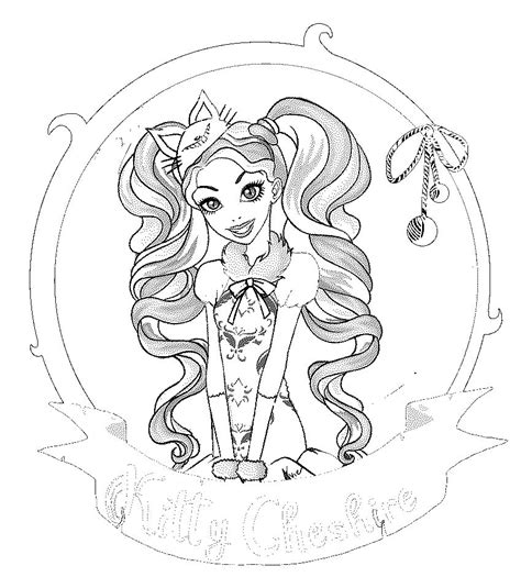 ever after high coloring pages lizzie ever after high lizzie hearts colouring page coloring
