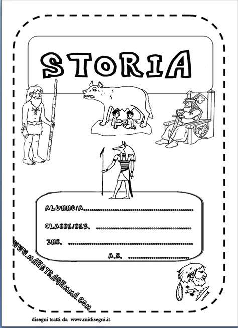 cornici per quaderni scuola primaria copertina di storia
