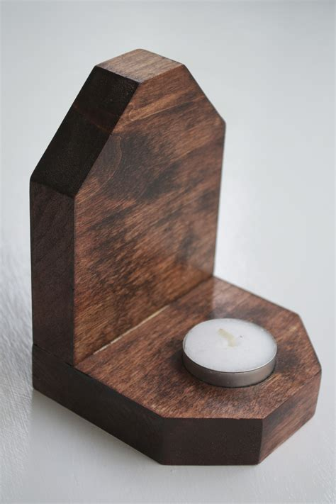 kerzenhalter kommunionkerze wooden candle holder on storenvy