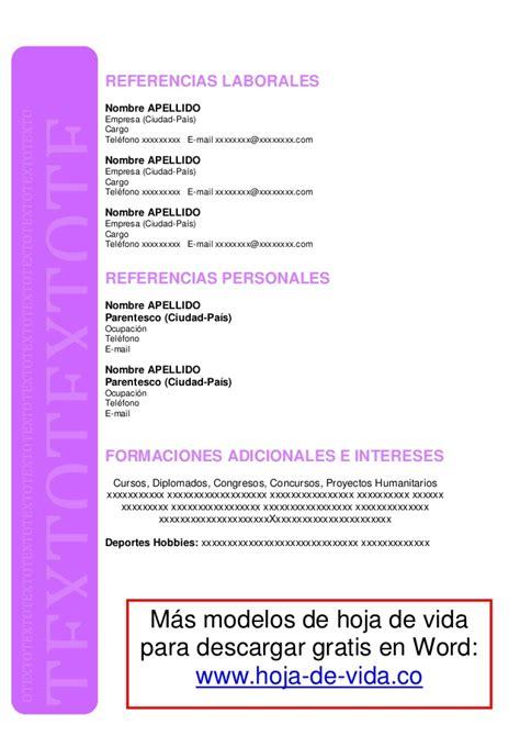 Modelos De Hoja De Vida Curriculum Vitae Formato Hoja De Vida 2016 Descargar Newhairstylesformen2014