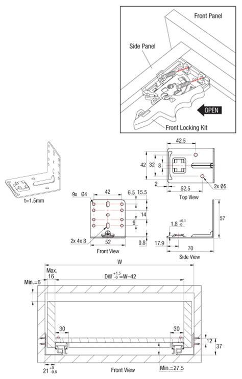 dtc 533 drawer slides installation as3416 face framed drawer slide full extension undermount