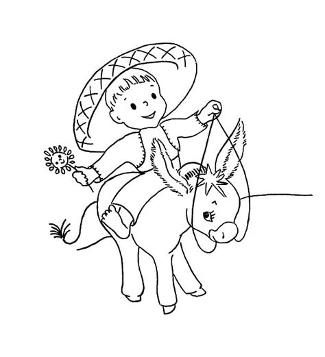 mexican donkey coloring page free coloring pages of baby donkey