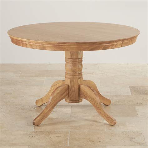 pedestal oak table 4ft pedestal round table in natural oak oak furniture land