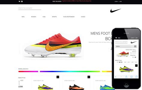 sneaker website spike shoes a flat ecommerce responsive web template by