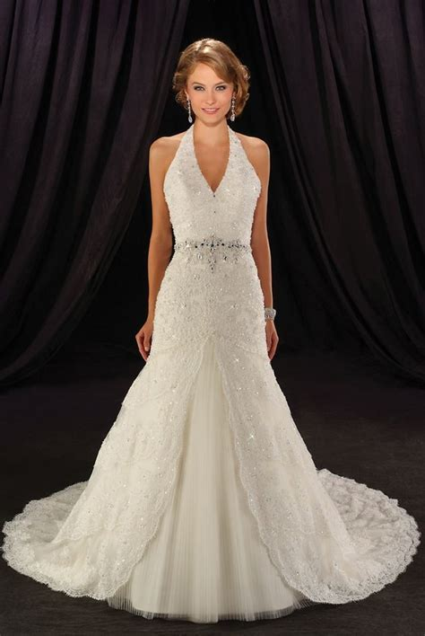Halter Top Wedding Dresses   Wardrobe Mag