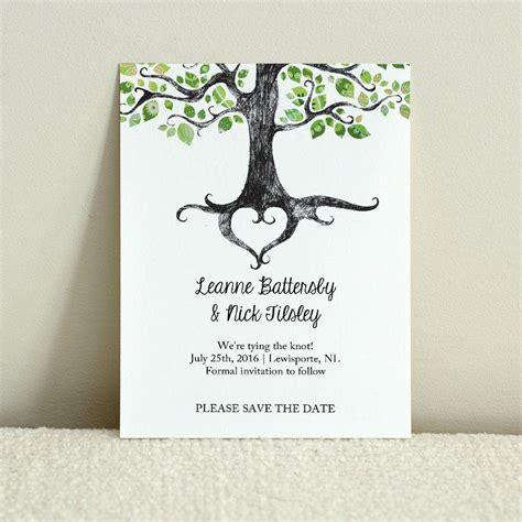 rustic tree card template wedding save the date rustic woodland tree diy