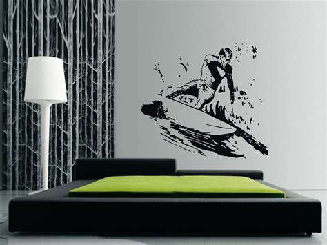 surfing wall stickers surfing wall sticker a great home decor decal wall