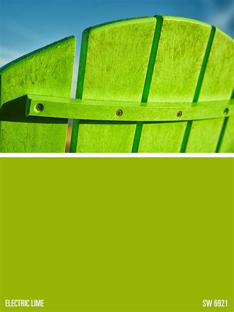 sherwin williams green paint color electric lime sw
