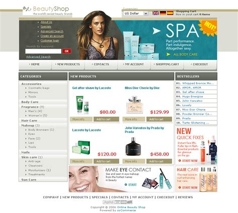Free Oscommerce Templates Oscommerce Templates Free
