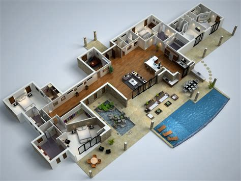 modern home design plans 3d modern house floor plans modern 3d floor plans modern