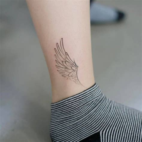 small wing tattoos on back image result for ankle wing tattoos