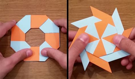 Origami Suriken - howto make retractable origami boing boing