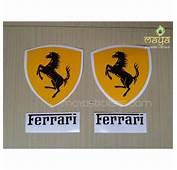 Ferrari Logo Sticker For Bikes And Cars  Custom Die Cut
