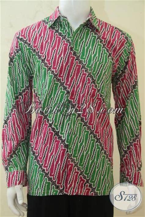 desain baju batik hijau kemeja batik parang merah kombinasi hijau baju batik
