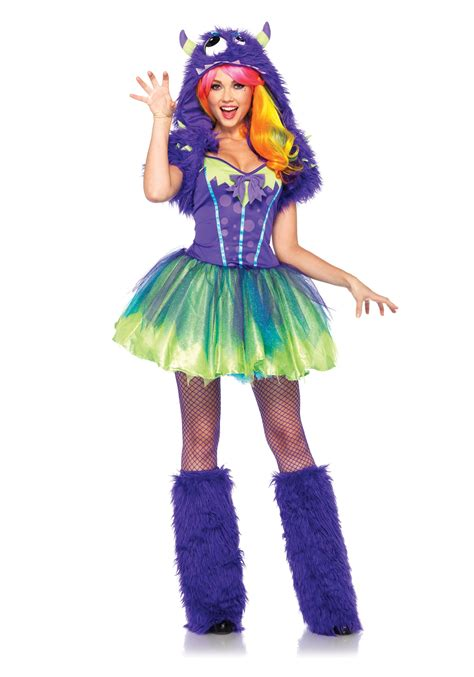 halloween costumes purple posh monster costume