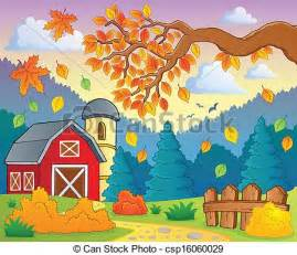 Small A Frame House Plans Free Vector Illustration Of Autumn Theme Landscape 1 Eps10