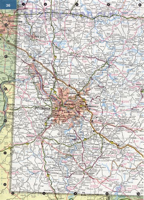 map of southwest pennsylvania southwest pennsylvania map