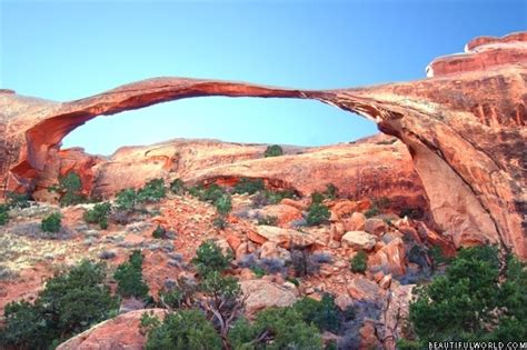 World Landscape Arch Landscape Arch Facts Information Beautiful World