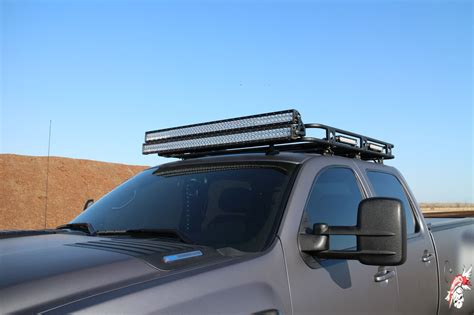 Truck Roof Rack With Light Bar by Transformed Dually Conversion Duramax