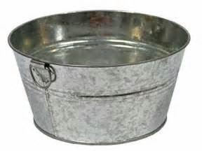 wash tub galvanized metal wash tub decorative containers