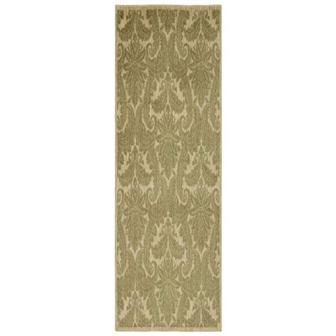 Overstock Rugs Runners by Nourison Overstock Aristo Khaki 2 Ft 2 In X 7 Ft 6 In
