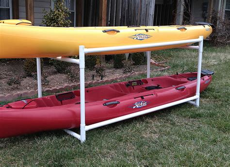 Diy Pvc Kayak Rack by Building A Kayak Storage Rack Opinions On This Design