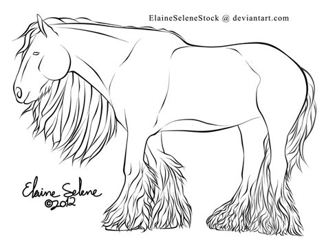 draft horse coloring page pin draught horse clipart colour 6 coloring pages of