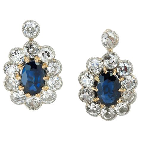 sapphire and antique earrings for sale