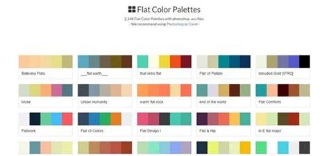 flat color combination 40 best color combination tools palette scheme