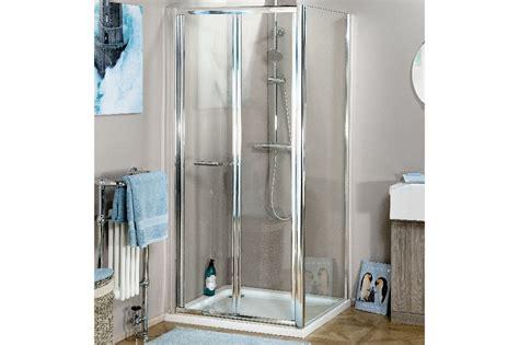 Atlantic Shower Door Atlantic 760mm Bifold Shower Door And Side Panel Trade Bathrooms Budget Shower Enclosures
