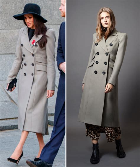 meghan markle spring coat meghan markle in grey smythe military coat for anzac day