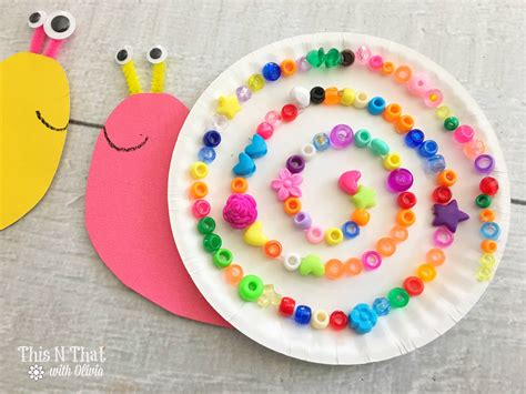 Snail Paper Plate Craft - paper plate snails craft for snail craft diy