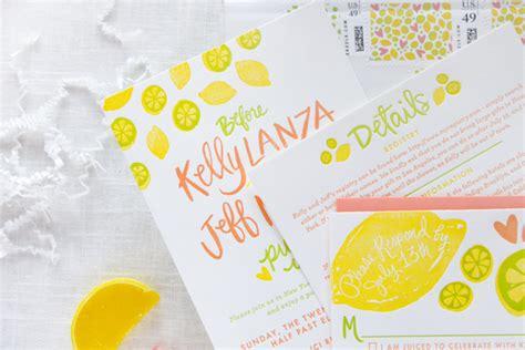 citrus themed wedding invitations citrus inspired bridal shower invitations