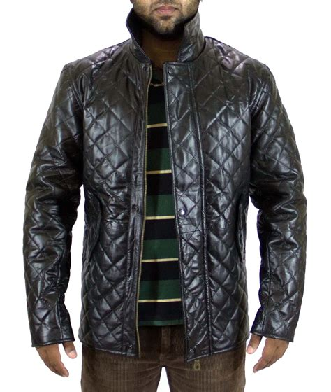 winter biker jacket handmade new men stylish quilted winter leather jacket