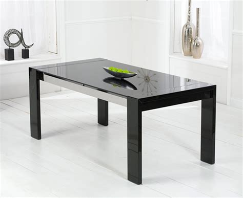 scala black gloss dining table