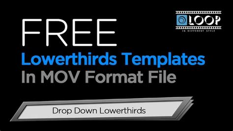 free lower thirds templates 1000 images about free template on fonts