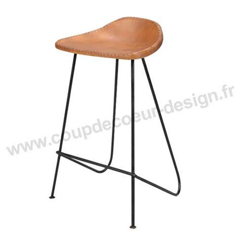 Tabouret Bar Cuir Marron by Tabouret De Bar Design En Cuir Vintage Marron Sur Cdc Design