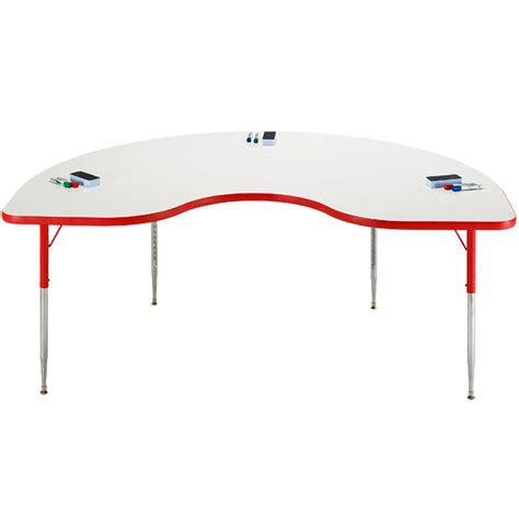 erase table allied plastics markerboard table 48 quot x 72 quot kidney