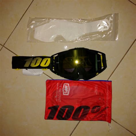 Harga Clear Lens jual goggle 100 race craft race day tearoff clear