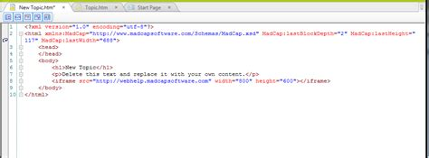 design html iframe linking and importing html5 output from flare
