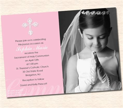 holy card templates communion invitations for template best