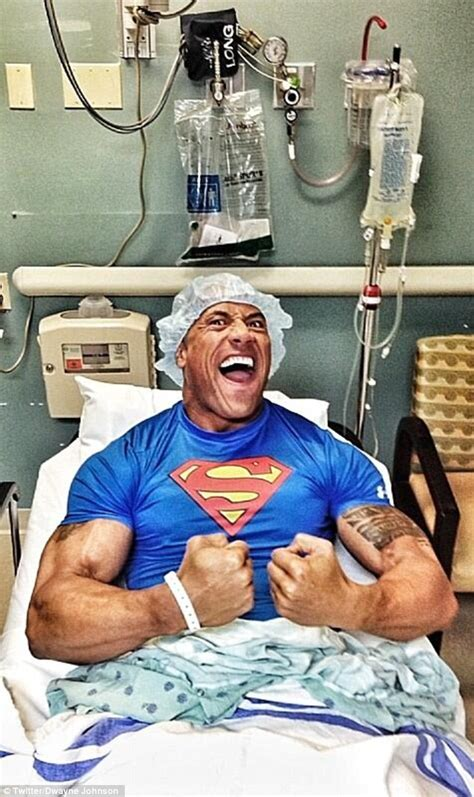 hernia emergency room the rock tweeted this pic from his hospital after undergoing emergency hernial surgery pics