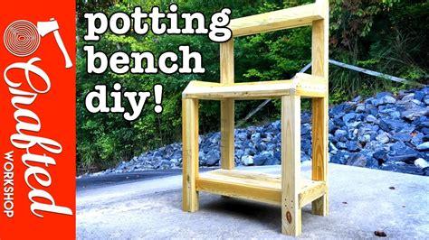 diy garden potting bench   build simple