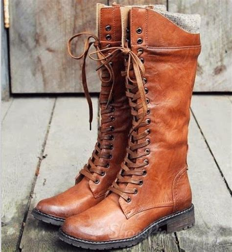 comfortable brown lace up flat boots flat boots brown