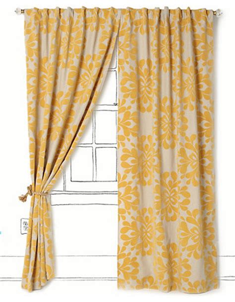 yellow flower curtains coqo floral curtain contemporary curtains by