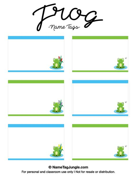 preschool name tag templates free printable frog name tags the template can also be