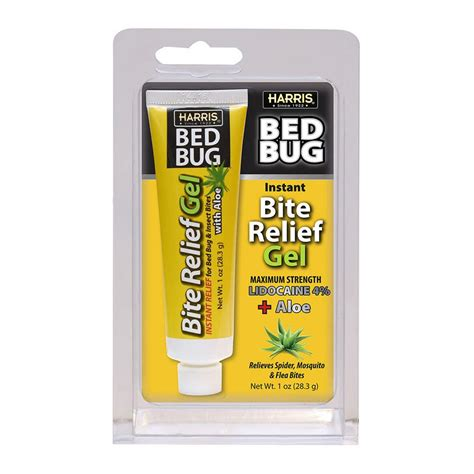 bed bug bite relief gel pf harris  aloe stops itching fast