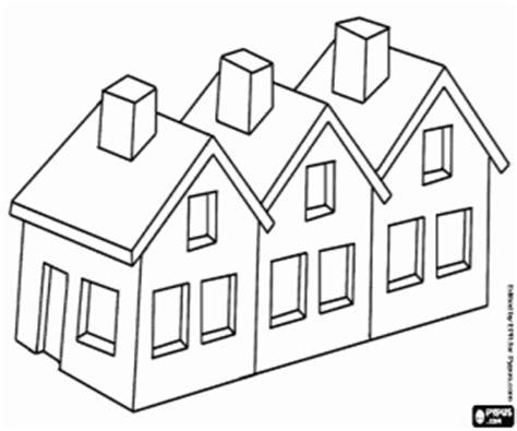 pueblo house coloring page juegos de casas para colorear imprimir y pintar